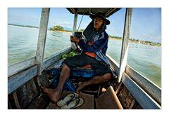 Fährmann über den Mekong