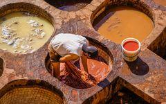 Färberrei in Fes, Marokko