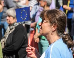 Fahne Pulse of Europe Stgt 9.4.17