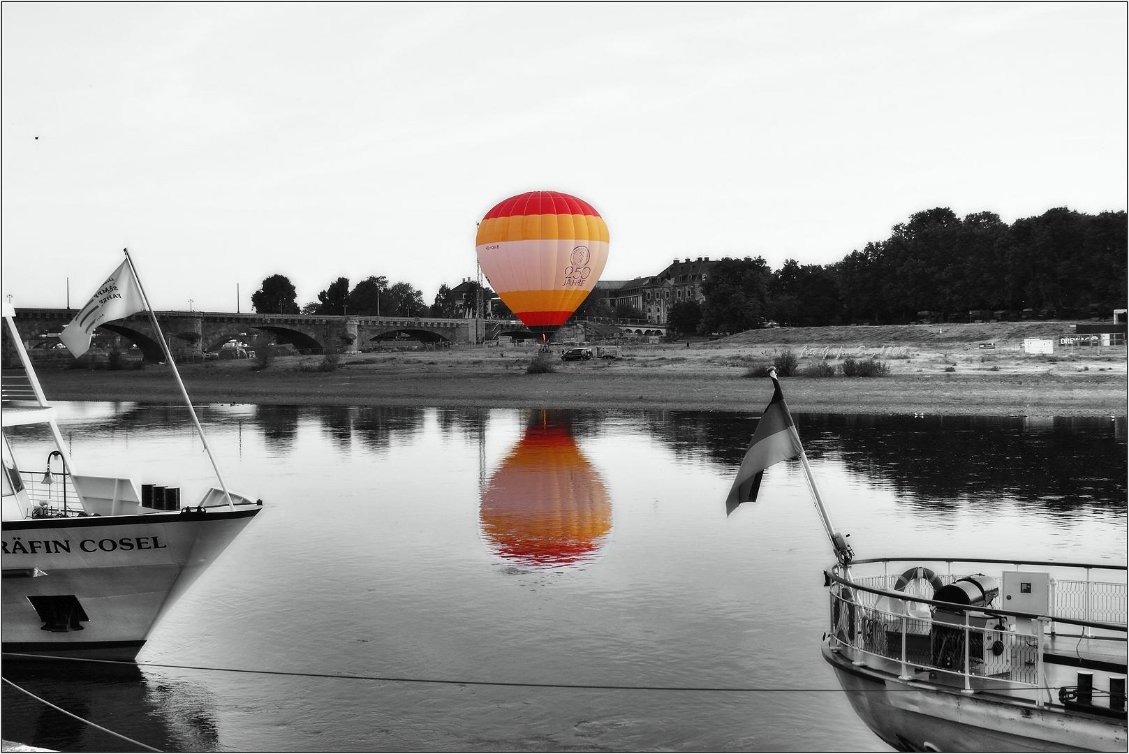 Fahren wir mit dem Ballon oder mit dem Schiff ?