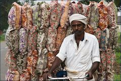 fahrender Kissenverkäufer