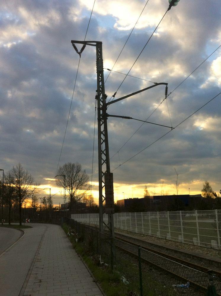 Fahrleitungsmast DRG Bauart