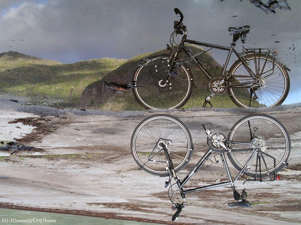 Fahrrad in der Pfütze I