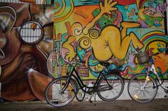 Fahrrad und Graffiti