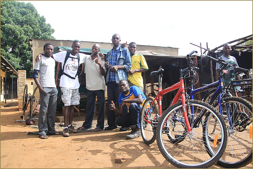 Fahrradgeschäft ... in Sambia