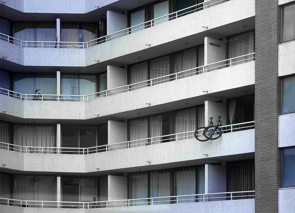 Fahrradständer in Santiago de Chile...
