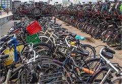Fahrräder en masse