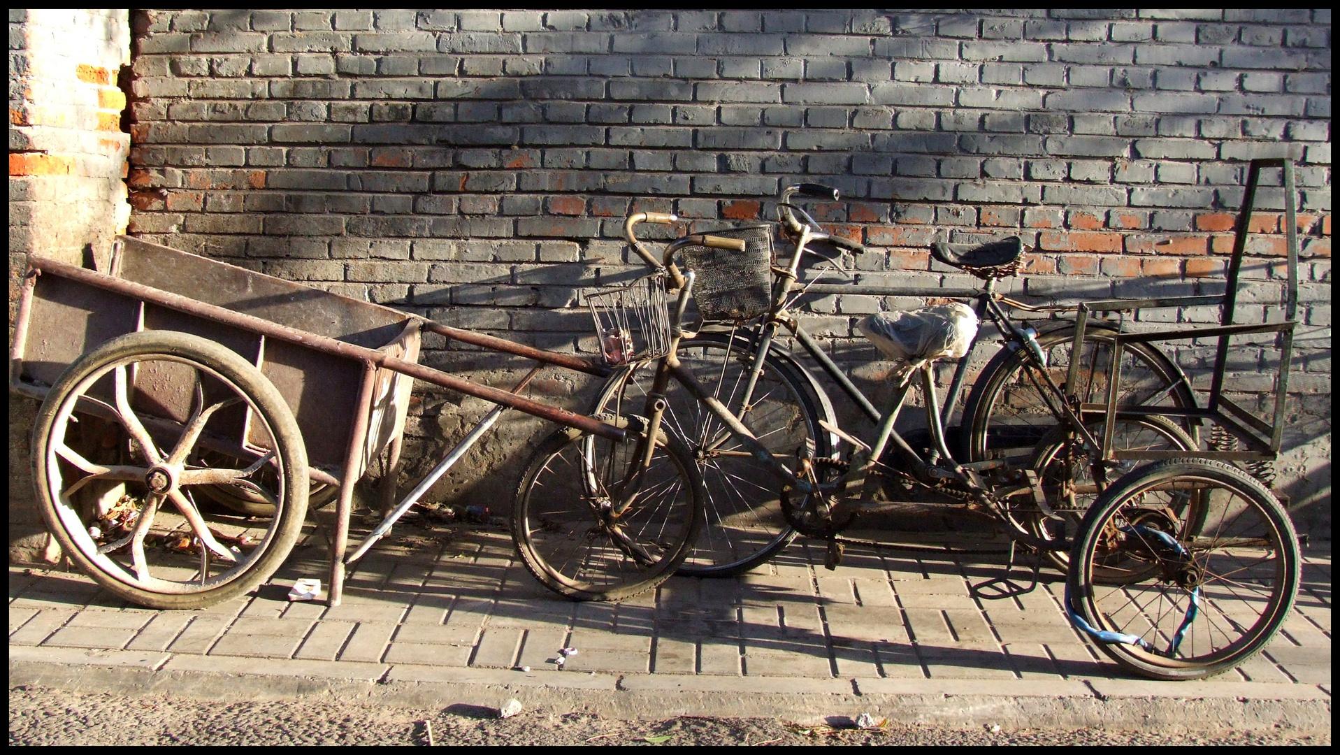 Fahrräder im Hutong