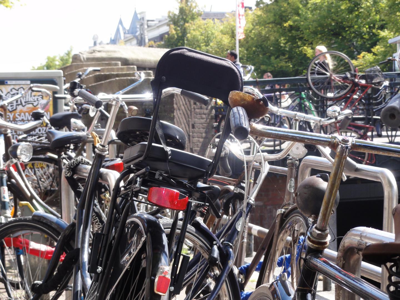 Fahrräder Wirrwarr