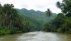 Fahrt auf dem Loboc River