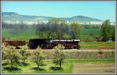 Fahrt durchs Saaletal in den Frühling mit der vom Personal auf Hochglanz gebrachten 44 0397.