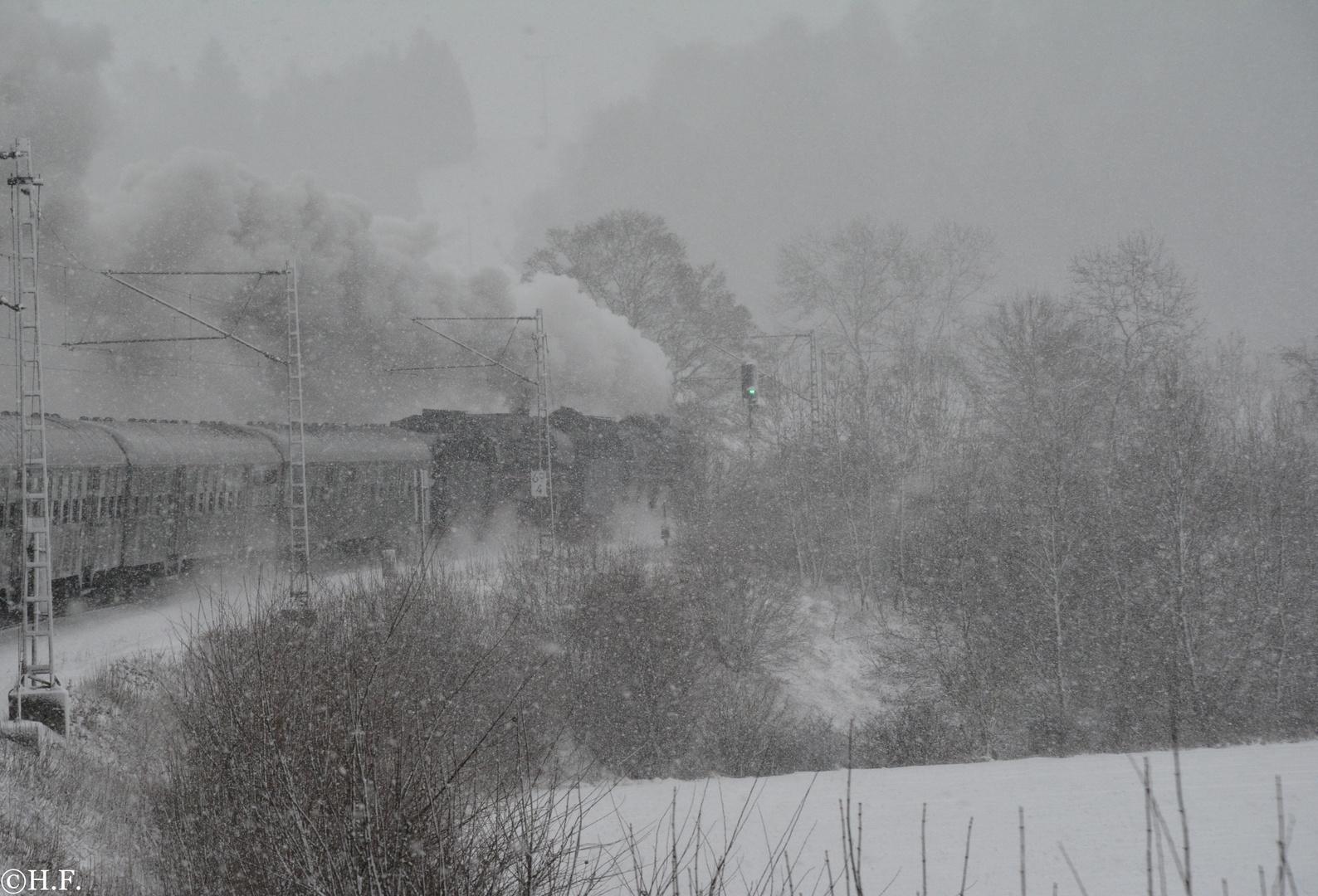 Fahrt Frei ins Schneetreiben...