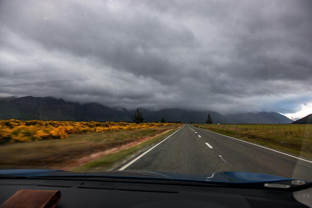 Fahrt in den Wetterwechsel