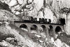 Fahrt mit HGe 2/2 der Schöllenenbahn durchs Gotthardmassiv