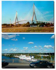 Fahrt über die Pont-de-Normandie