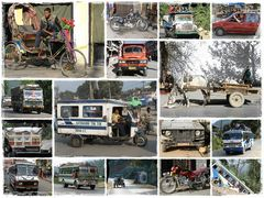 Fahrzeuge in Nepal und Tibet