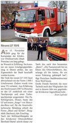 Fahrzeugübergabe - Abdruck in der Brandenburgbeilage