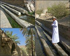 Falaj in Birkat al Mawz