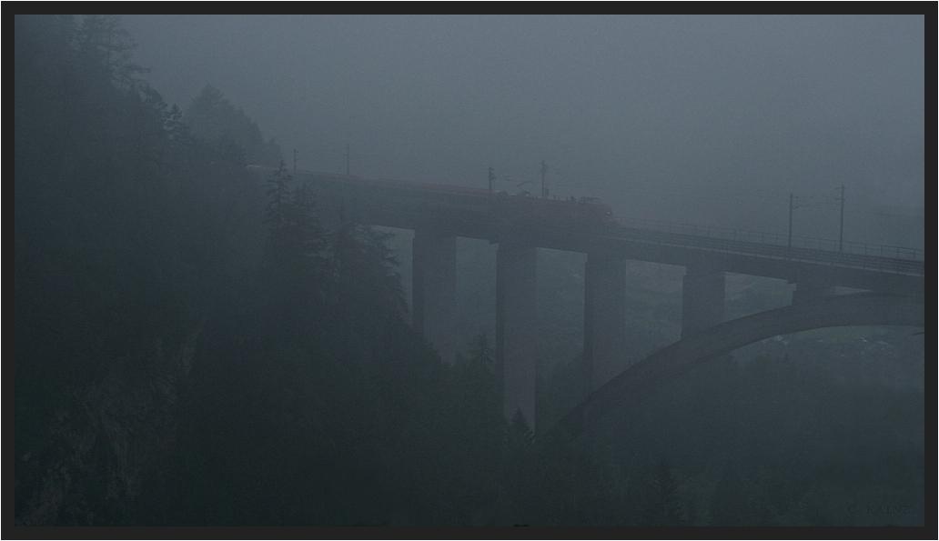 Falkensteinbrücke im Nebel II