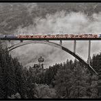 Falkensteinbrücke im Nebel III