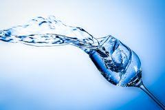 fallendes Wasserglas