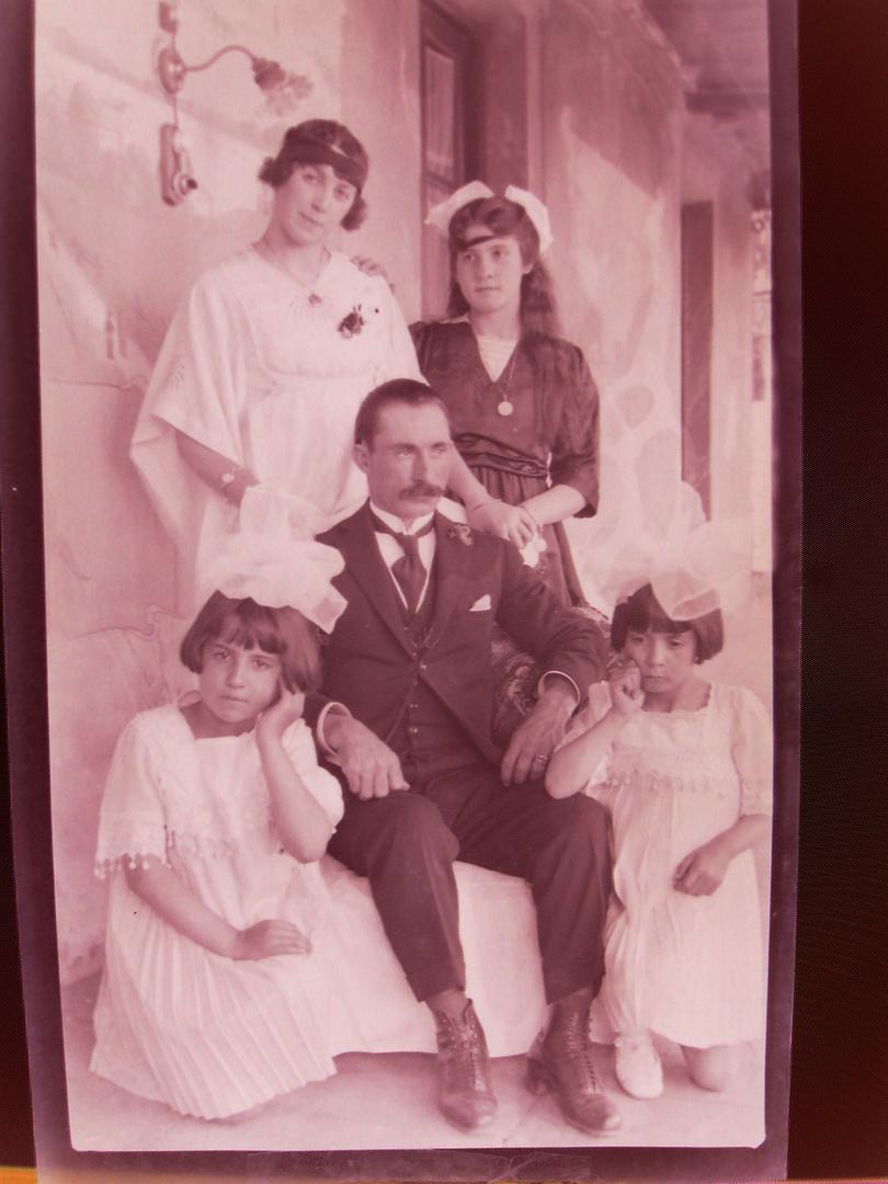 familia 1920, negativo 9 x 14 cm