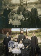 Familie 1915 - Vorher+Nacher