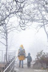 Familie im Nebel