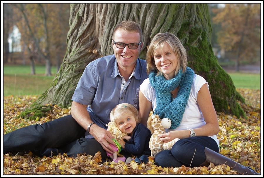 Familienfotos im Herbst 1