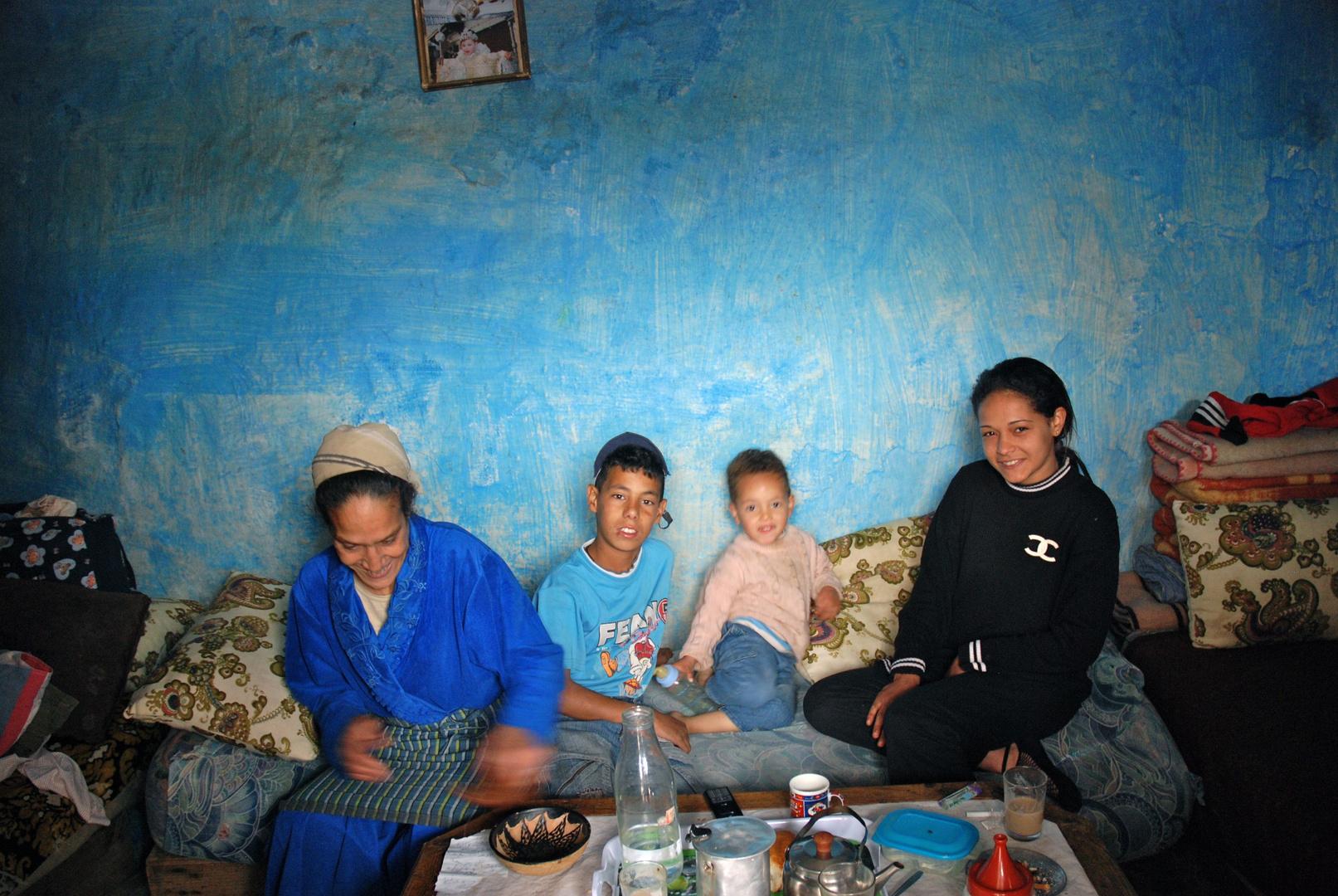 Famille d'accueil dans le vieux quartier juif de Fez