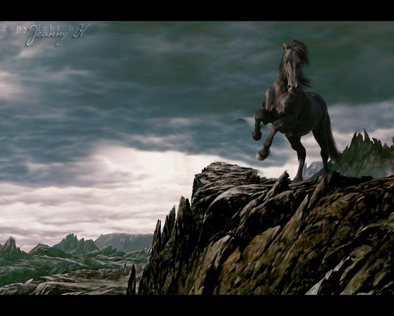 Fantasy - Black Horse