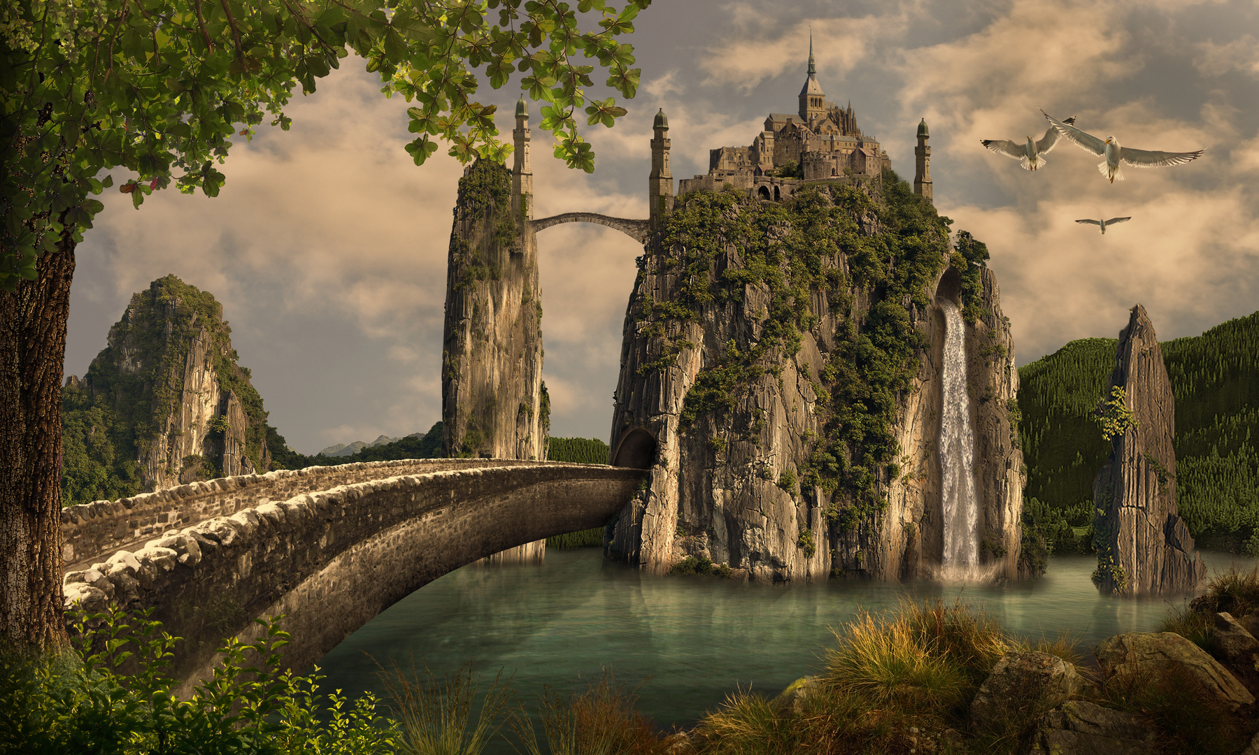 Fantasy-Burg-Ensemble