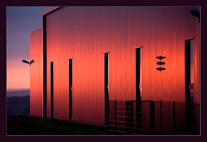 Farbe eines Sonnenaufgangs