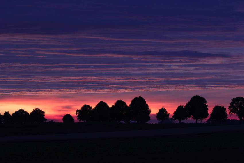 Farben nach dem Sonnenuntergang ...