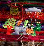 Farben Perus: Quechua-Mädchen …