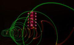 Farben- und Formenspiel vor dem Lumolith