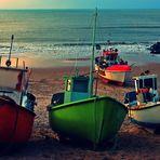 Farbenfrohe Fischerboote