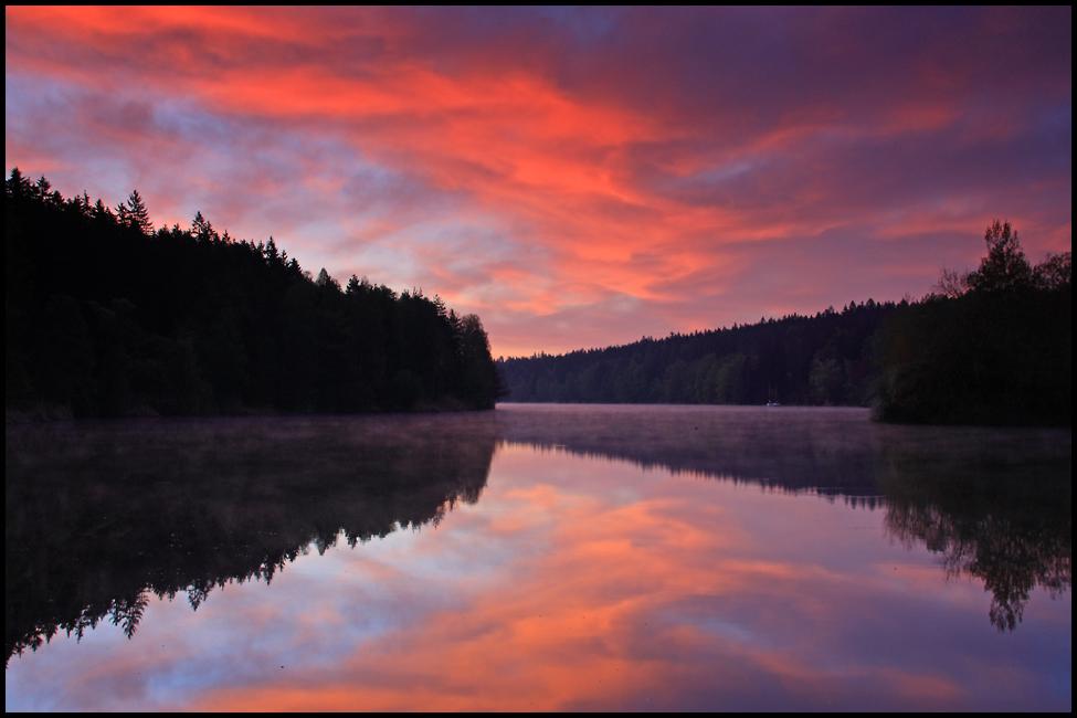 Farbenfroher Tagesanbruch...