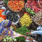 Farbenpracht auf dem Markt