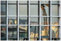 Farbig Hong Kong im Spiegel 1