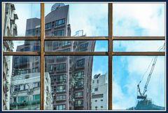 Farbig Hong Kong im Spiegel 2