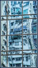 Farbig Hong Kong im Spiegel 4