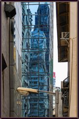 Farbig Hong Kong im Spiegel 5