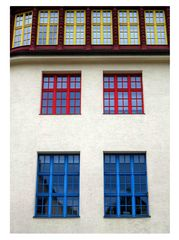 Farbige Fensterrahmen