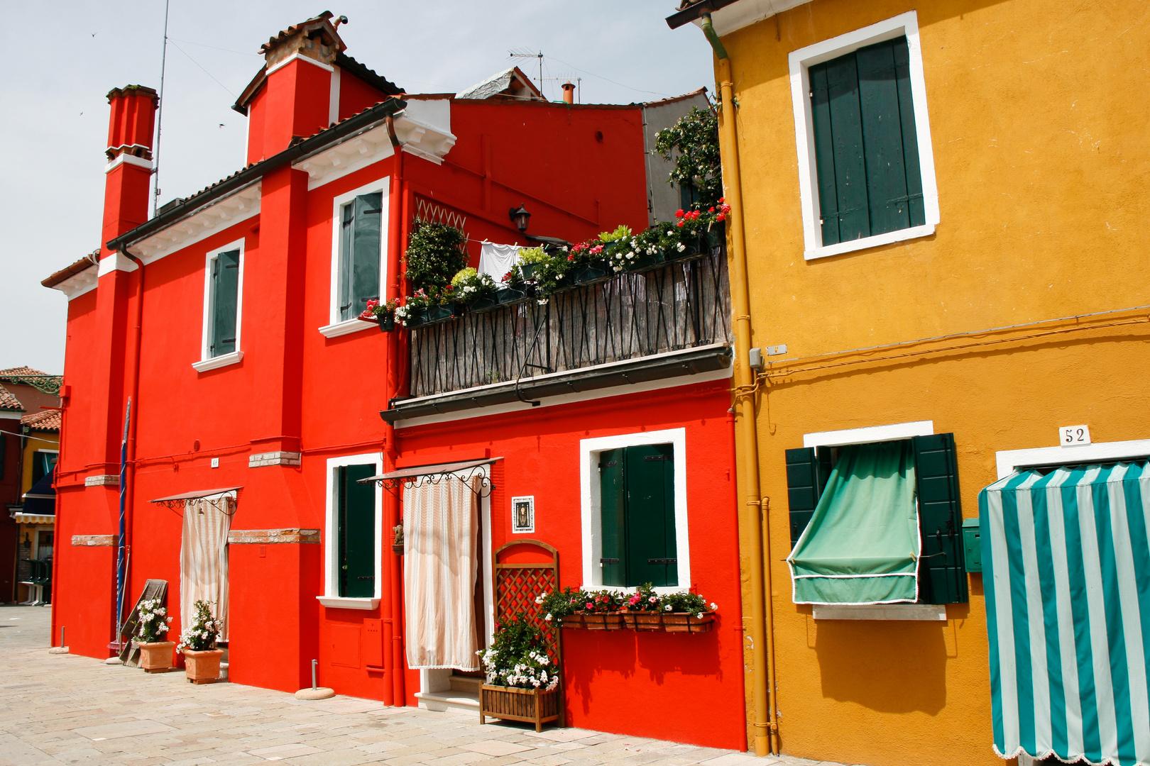 Farbige Hausfassaden auf Burano