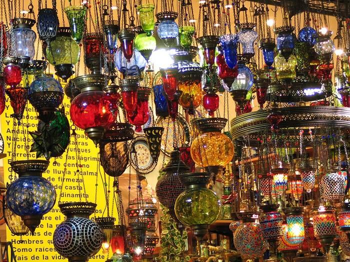 farbige Lampen - Basar Istanbul