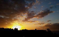 farbiges Wolkenschauspiel