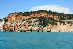 Farbkontraste - Steilküste bei Alanya, Türkei