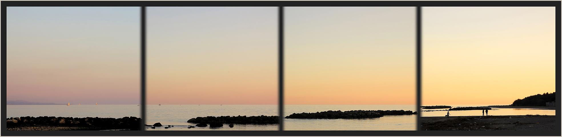 Farbschattierung von SO nach SW / Sfumatura colori dal SE al SO
