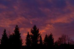 Farbspiel am Himmel